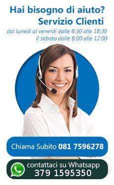 Per tutte le tue richieste contatta il nostro servizio clienti allo 081.7596278